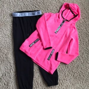 Other - Girl's Justice joggers and gymnast sweatshirt, 10